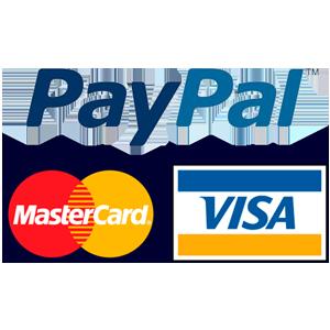 Visa, Mastercard, Paypal logos